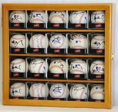 40 baseball arcylic cubes display case cabinet holder wall rack w uv protection