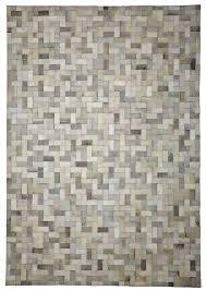 steps ivory grey cowhide rug