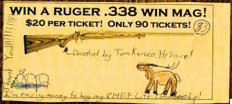 elk tracks one little girl s big birthday gift to rmef ahnie s homemade life membership raffle ticket