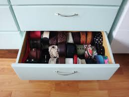 How To Organize Belts In A Drawer