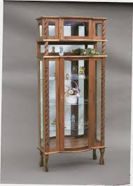 stylish ideas wood curio cabinet with glass doors marvelous corner curio cabinet cabinets with