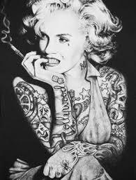 marlyn monroe if she grow up in da hood on marilyn monroe tattoo wall art with new beginnings by susana alonso pin up mermaid tattoo canvas art