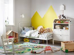 ikea bedroom for kids. a childrens bedroom with the minnen extendable bed against wall beside sundvik changing table ikea for kids m