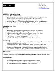 Sample Resume For College Graduate With No Experience Resume