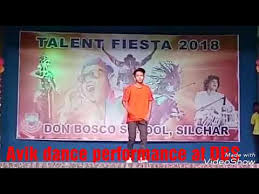 Avik Sinha dance performance at talent Fiesta 2018 Don Bosco Silchar -  YouTube