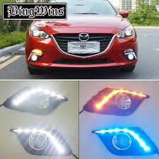 Lights Dimming In Car Us 100 0 Turn Signal Light And Dimming Style 12v Led Car Drl Daytime Running Lights With Fog Lamp Hole For Mazda 3 Axela 2013 2014 2015 In Car Light