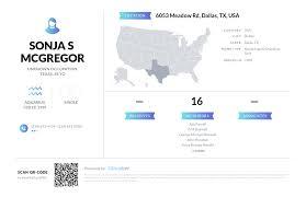 Sonja S Mcgregor, (214) 691-4139, 6053 Meadow Rd, Dallas, TX   Nuwber