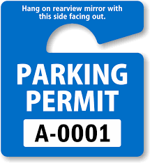 Hang Tag Template Awesome Parking Hang Tags Design Online At MyParkingPermit