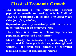 sustainable development why the focus on population dr maria  classical economic growth  the foundation of the relationship between population growth and real growth is