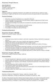Respiratory Resume Magnificent Respiratory Therapist Resume Templates Respirator Superb Respiratory