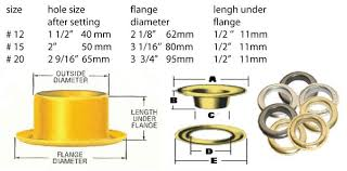 Size Charts Curtain Grommets Micron Group Inc