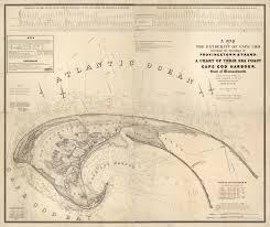 Cape Cod Chart 1836 Cape Cod Map Massachusetts