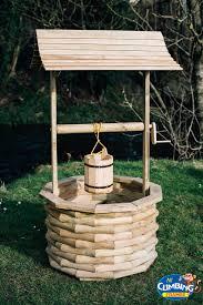wooden wishing well garden pond
