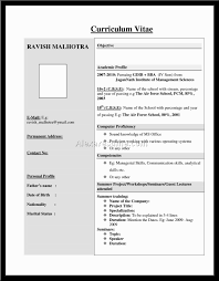 Doc 526646 Resume Format For Mca Freshers Doc Bizdoska Com