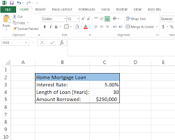 How To Calculate A Monthly Loan Payment In Excel Mortgage Car Loan