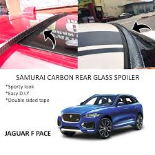 Jaguar F Pace Samurai Carbon Rear Top Windscreen OEM Glass Spoiler (4.