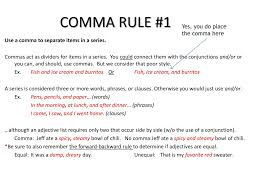 When Do I Use A Comma Ppt Comma Rules Powerpoint Presentation Id 2517979