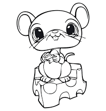 Nice Idea My Littlest Pet Shop Coloring Pages Lps Free Coloring