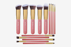 bs mall 14 pcs premium synthetic kabuki makeup brush set