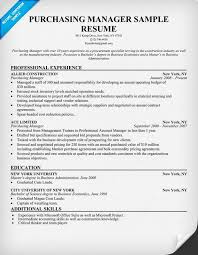 Procurement Manager Resume Sample Purchase Manager Resume
