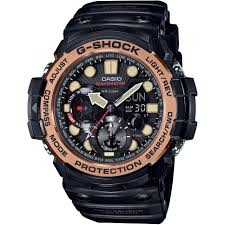 "casio g shock watches men s g shock watch shop comâ""¢ mens casio g shock gulfmaster master of g vintage black and alarm chronograph watch gn"
