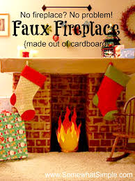faux fireplace 7