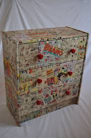 decoupage ideas for furniture. one off decoupage kids chest of drawers all unique made with original vintage comics ideasdecoupage furniturevintage ideas for furniture