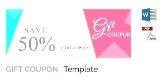 coupon templates word meal voucher template free download