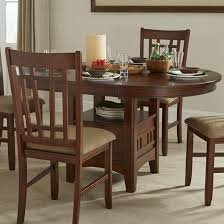 Dining Table With Storage Oval Dining Table With Storage Pedestal By Intercon Wolf And