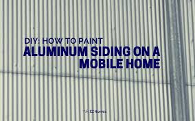 featured image for diy how to paint aluminum siding on a mobile home