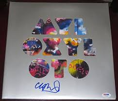 <b>Chris Martin Coldplay</b> signed <b>Mylo</b> Xyloto Vinyl Album Review ...