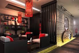 Asian Style Interior Design Unique Elegant Oriental Black-Red Chinese Style  Tea Shop Interior