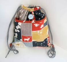 Drawstring Backpack Pattern Custom Drawstring Backpack With Pocket Sew Mama Sew