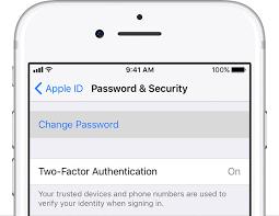 ios11 iphone7 settings apple id password security change password
