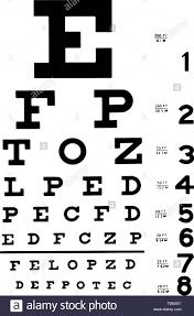 Medical Eye Chart Vector Illustration Eps 10 Stock Vector