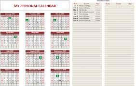 custom calendar templates custom printable calendars excel template indzara