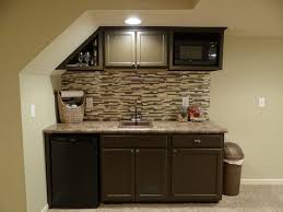 Lowes Upper Kitchen Cabinets Basement Wet Bar Under Stairs Used Stock Cabinets And Countertop