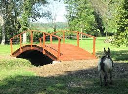 garden bridge kits x 8 foot red cedar tractor bridge garden bridge kits canada