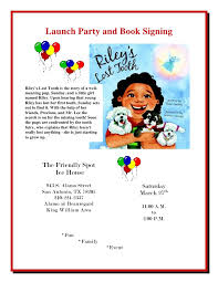 book signing flyer launch party and book signing flyer