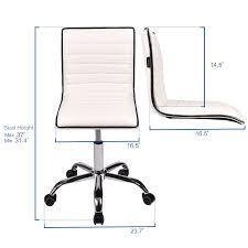 office chair ribbed sled base leather swivel ergonomic computer desk task seat
