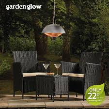 garden glow 1500w ceiling mounted patio heater