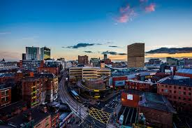on manchester skyline wall art with manchester skyline from shudehill evening cityscape print