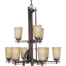 progress lighting riverside collection 9 light heirloom chandelier with etched light topaz glass p4214 88 the home depot