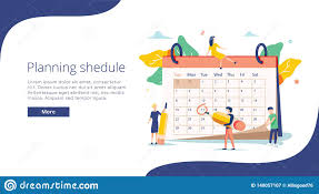 Planning Vector Illustration Flat Mini Persons Concept With