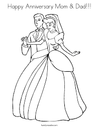 Small Picture Happy Anniversary Mom Dad Coloring Page Twisty Noodle