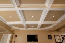 pleasant design coffered ceiling featuring white cream colors coffered ceiling and cream wall paint color