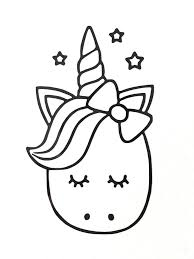Cute Cartoon Unicorn Vinyl Decal Sticker Various Colours Sizes