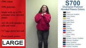 Women S Champion Hoodie Size Chart Champion Brand Hooded Sweatshirt Sizing Video