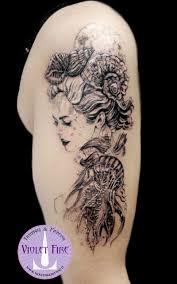 Tatuaggio Animali Violet Fire Tattoo Tatuaggi Maranello