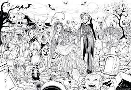 Halloween Coloring Pages For Adults Printables Coloring Pages Free